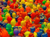 Background of rubber ducks — Stock Photo