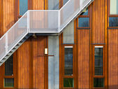 Modern wooden facade — Stock Photo