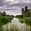 Dutch residential area - Stock Photo