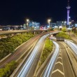 Night traffic in Auckland — Stock Photo