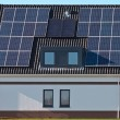 Solar panels on modern house — Stock Photo #14716421