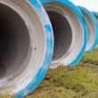 Concrete construction pipes - Stock Photo