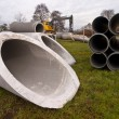 Stock Photo: Construction pipes