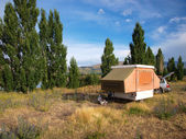 Toile dossier camping-car — Photo
