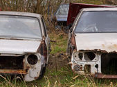 Rusted carwrecks — Stock Photo