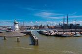 Dutch harbor na waddenského moře — Stock fotografie