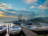 Rent a boat marina — Stock Photo