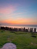 Portrait de mer coucher de soleil — Photo
