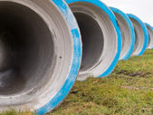 Concrete construction pipes — Stock Photo