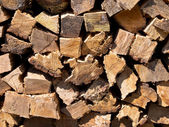 Pile of burning wood — Stock Photo