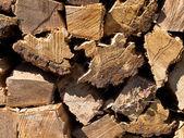 Stack of burning wood — Stock Photo