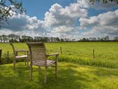 Two garden chairs — Stock Photo