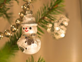 Decorative snowman — Stock Photo