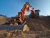 Construction digger — Stock Photo