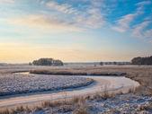 Frozen river — Stockfoto