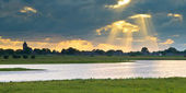 Dutch IJssel river landscape — Stock Photo