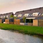 Modern row houses — Stock Photo