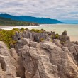 Sedimentary Rocks New Zealand - Stock Photo