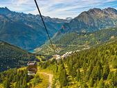 Teleferik Fransız alps — Stok fotoğraf