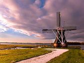 Vítr mill nizozemsko — Stock fotografie