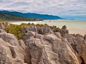 Sedimentary Rocks New Zealand — Stock Photo