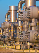 Detail of a modern natural gas processing plant — Stock Photo