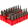 Royalty-Free Stock Photo: Bit set in red rubber organizer