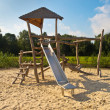 Natural Play Garden - Stock Photo