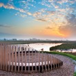 Sunset Seat overseeing Marsh Plain — Stock Photo
