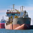 Stock Photo: Trailing suction hopper dredger