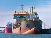Trailing suction hopper dredger — Stock Photo