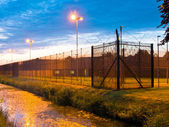 European Prison Fence — Stock Photo