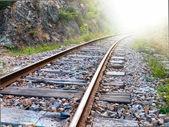 Estrada de ferro para a luz — Foto Stock
