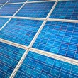 Solar panel on a sunny day — Stock Photo