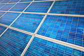 Solar panel on a sunny day — Stock Photo