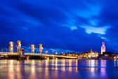 Kampen City Blue Hour — Stock Photo
