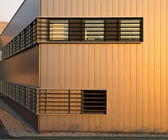 Sparse Metal Exterior of a Commercial Building — Stock Photo