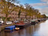 Amsterdam Canal City Scene — Stock Photo
