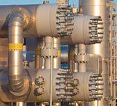Close up van een moderne aardgas verwerkingsbedrijf — Stockfoto
