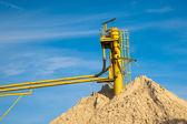 Транспортер песка шахты — Стоковое фото