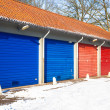 Garage in Snow — Stock Photo