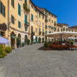 Oval Square in Lucca — Stock Photo