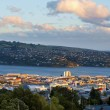Stock Photo: Dunedin city, new zealand, during sunset