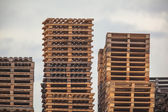 Wooden Transportation Pallets Storage — Stok fotoğraf