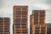 Wooden Transportation Pallets Storage — Stock Photo