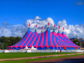 Big Top Circus Tent in Bright Colors — Stock Photo