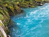 Blue river — Stock Photo