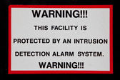 Facility Alarm System Sign — Stock Photo