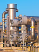 Part of a modern natural gas processing plant — Stock Photo