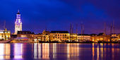Kampen Harbor Blue Hour — Stock Photo